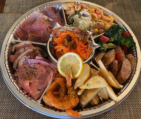 イタリアン食堂アルカティの前菜の盛り合わせ